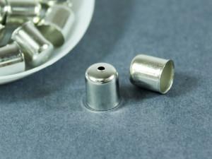 Концевик для шнуров, жгута и кистей 8х9мм цвет Сталь