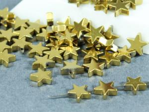 Бусина фигурная гематит Звезда 8х8мм золото