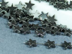Бусина фигурная гематит Звезда 8х8мм серая