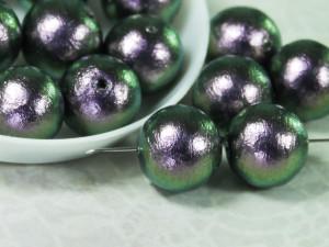 Хлопковый жемчуг Cotton Pearls 12mm Green Black Japan2