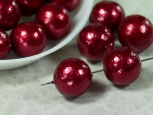 Хлопковый жемчуг Cotton Pearls 12mm Red Japan