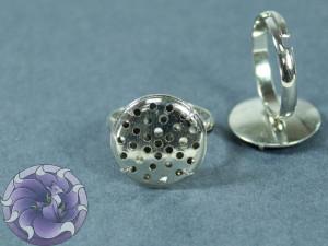 Основа для кольца регулируемая съемная сеточка 17мм Цвет серебро