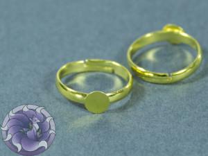 Основа для кольца регулируемая круглая 5мм Цвет золото
