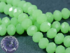 Рондели 8мм нить 34-36шт Цвет Опал зеленый непрозрачный