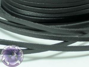 Шнур замшевый односторонний 3мм Черный