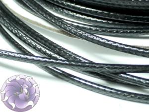 Шнур вощенный плетеный 2мм Черный