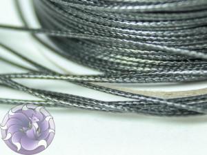 Шнур вощенный плетеный 0,5мм Черный тонкий