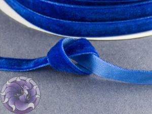 Лента бархатная 1см Синяя
