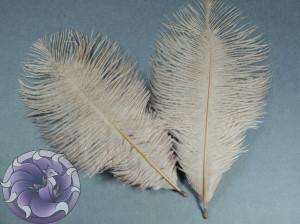 Перо страуса цвет Телесный 15-20 см