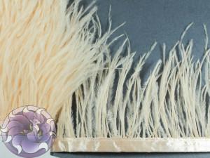 Лента из перьев страуса 8-10 см цвет Персиковая
