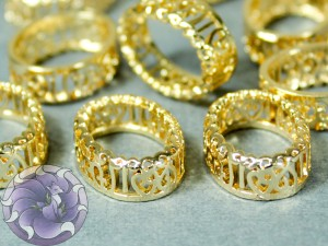 Оправы для кристаллов ажурная Овал 10х14мм, цвет золотые