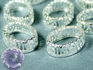Оправы для кристаллов ажурная Овал 10х14мм, цвет серебро