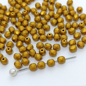 Fire polished 4mm Brass Gold