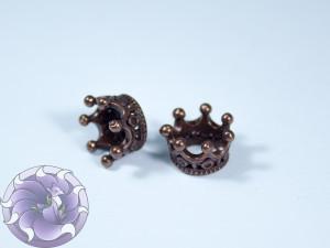 Шапочка-корона для бусин 11х11х6мм цвет Медь