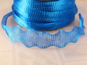 Ювелирная лента-сетка голубая