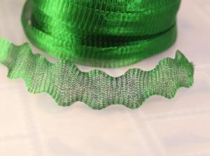 Ювелирная лента-сетка зеленая