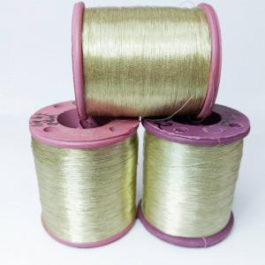 Нитки металлизированные для вышивки индийские Light Gold 002