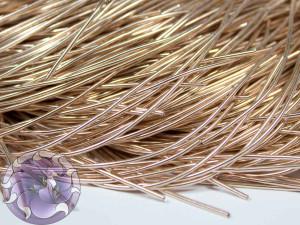 Канитель гладкая 1мм цвет Розовое золото