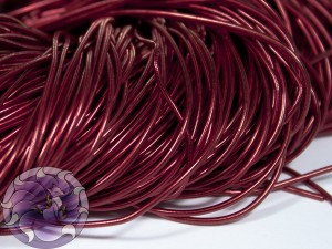 Канитель гладкая 1мм цвет Бордовый