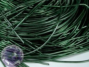 Канитель гладкая 1мм цвет Темно оливковая