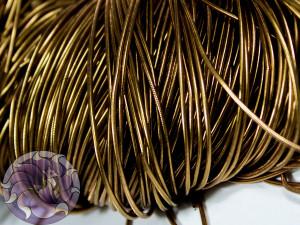 Канитель гладкая 1 мм цвет Античное золото 5g