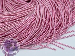 Канитель мягкая гладкая 1мм матовая цвет Розовая