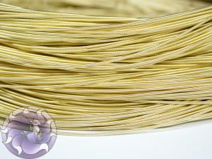 Канитель жесткая 1мм цвет Светлое золото