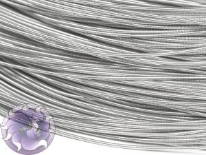 Канитель жесткая 1.25мм цвет Белое Серебро