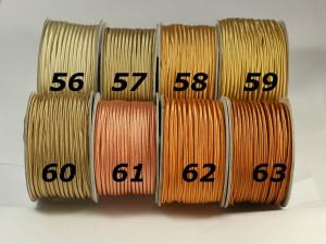 Сутажный шнур Европа глянцевый 3мм цвета №56-63