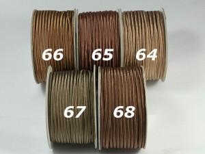 Сутажный шнур Европа глянцевый 3мм цвета №64-68