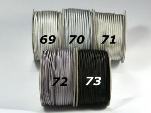 Сутажный шнур Европа глянцевый 3мм цвета №69-73