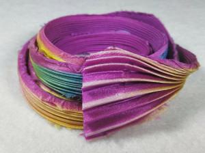 Шелковая Лента Шибори (Shibori silk ribbon) L234
