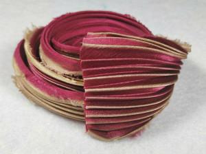 Шелковая Лента Шибори (Shibori silk ribbon) L237