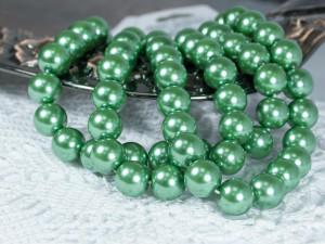 Жемчуг стеклянный 10мм 21шт цвет Светло-зелёный