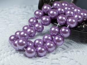 Жемчуг стеклянный 10мм 21шт цвет Фиолетовый