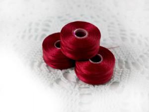 Нить для бисера C-LON size AA Red