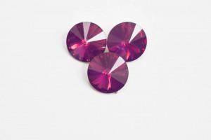 Стразы Риволи Смола 12мм Фиолетовый опал
