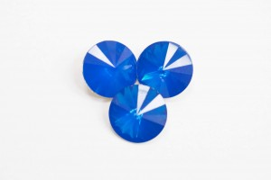 Стразы Риволи Смола 12мм Синий опал