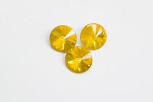 Стразы Риволи Смола 12мм Жёлтый опал