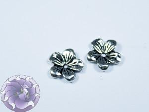 Шапочка для бусин 12х12мм цвет чернёное серебро