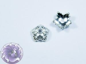 Шапочка для бусин 10х10мм цвет серебро