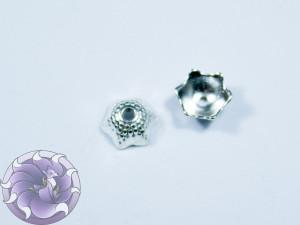 Шапочка для бусин 9х8мм цвет серебро