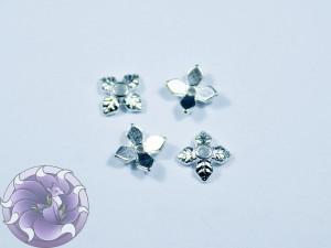 Шапочка для бусин 5х5мм цвет серебро