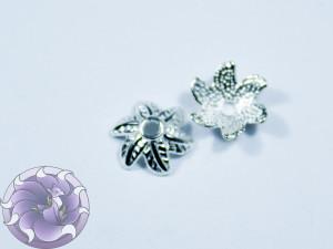 Шапочка для бусин 12х12мм цвет серебро