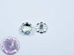 Шапочка для бусин 8х8мм цвет серебро