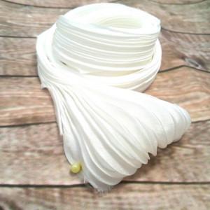Лента Шибори (Shibori silk ribbon) цвет Белая