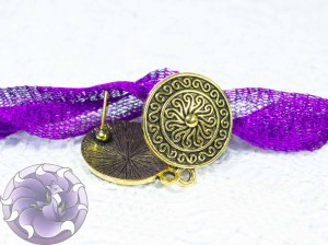 Швензы-гвоздики №23 Цвет черненое золото