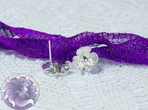 Швензы-гвоздики №29 цвет серебро