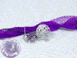 Швензы-гвоздики №04 цвет серебро Южная Корея