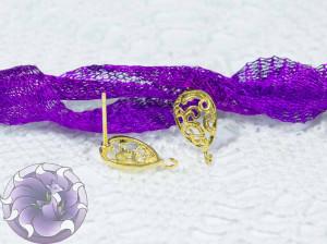 Швензы-гвоздики №40 Цвет золото